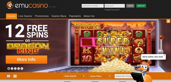 12 free spins for new players