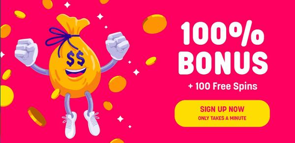 100% bonus and 100 free spins