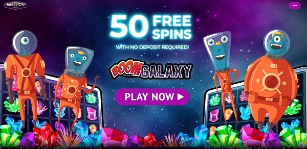 50 Free Spins on Boom Galaxy by Microgaming