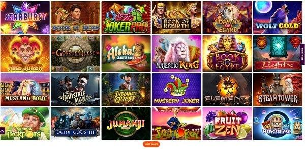 The best online slots, jackpots and live dealer!