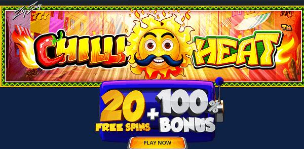 20 free spins bonus on Chilli Hea
