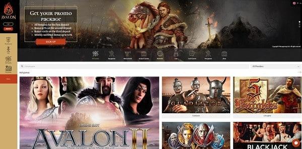 Avalon78 Casino free spins games