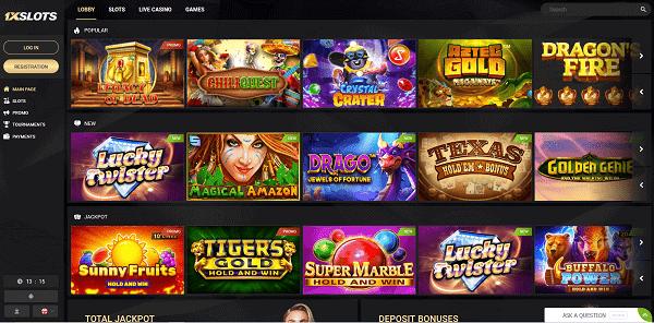 1XSlots Casino Games