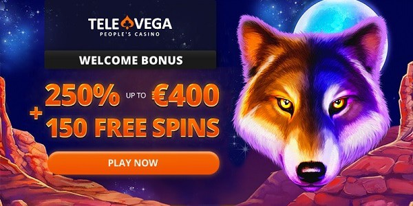250% bonus + 150 free spins for new players