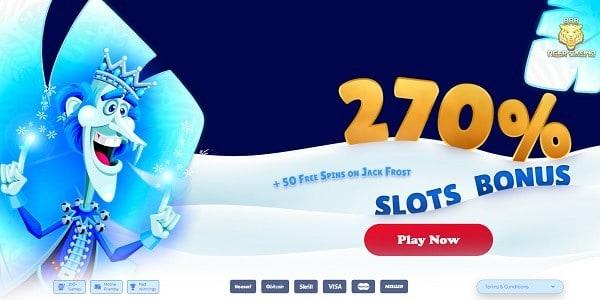 270% bonus and 50 free spins