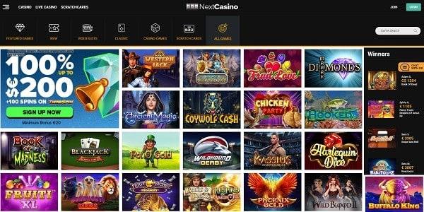 Next Casino Online Review