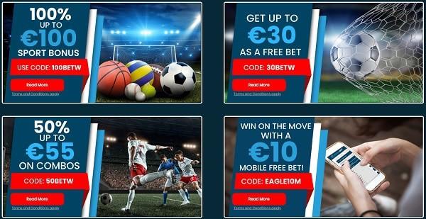 Eaglebet sportsbook bonus and free bet