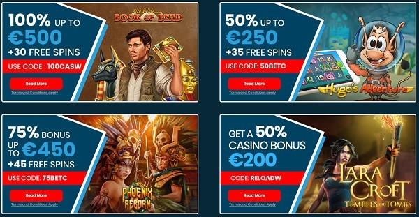 Eaglebet free spins & bonus codes