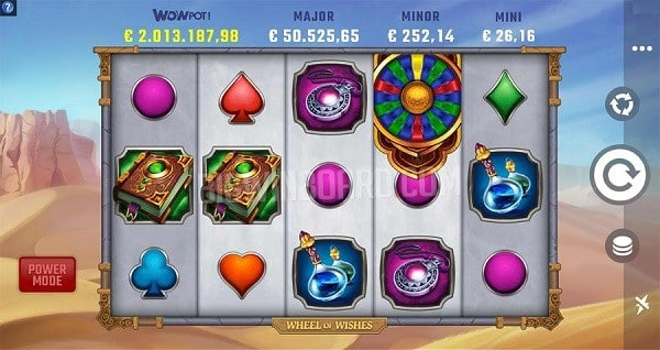 Wheel of Wishes Jackpot Bonus, Bonus Wheel, Free Spins, Scatters