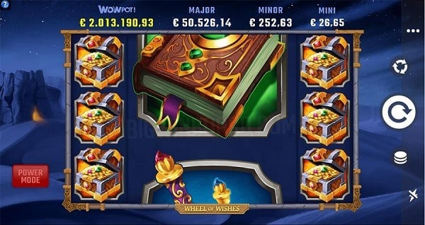 Wheel of Wishes jackpot Power Mode