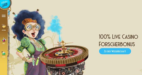 100% Live Casino Forschebonus