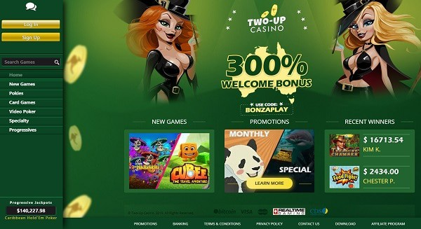 TwoUp Casino free spins