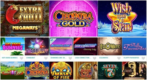 Excellent Games and Free Spins