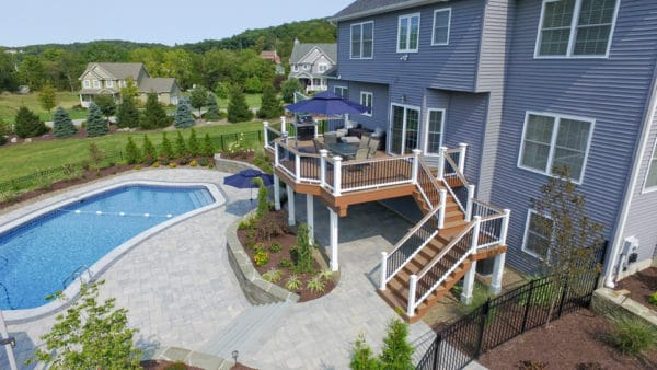 customize your craftsman home with a spacious second-story deck made for countryside living