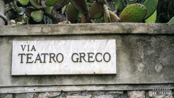 Via Teatro Greco, Taormina - Sycylia