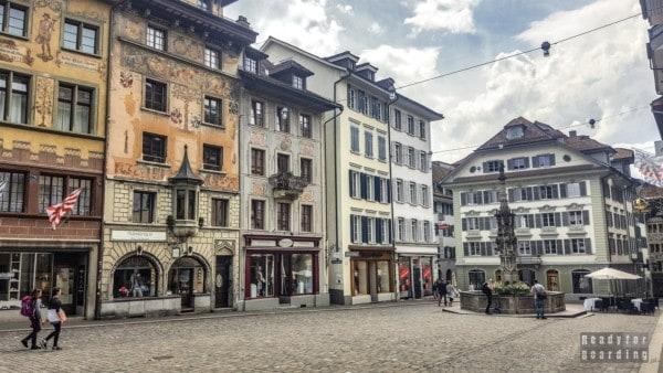 Placu Weinmarkt, Lucerna - Szwajcaria