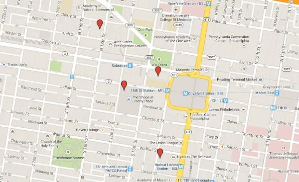 personal injury lawyer in philadelphia   Google Map