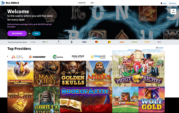 All Reels Casino Website Review