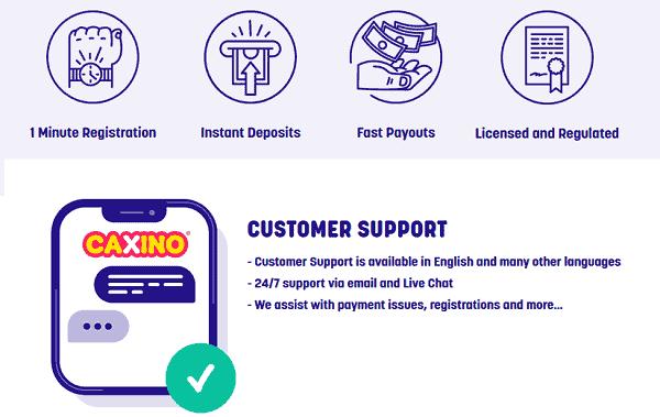 Fast deposit, cashout, support
