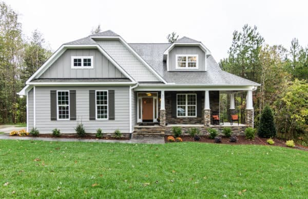 combine urbane bronze shutter color with dovetail house siding for a charming craftsman style