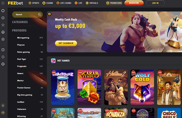 Exclusive Online Casino with free spins