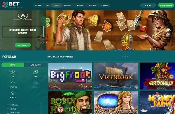 22Bet Casino reviews
