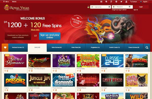 Royal Vegas Casino exclusive no deposit bonus and free spins promotion