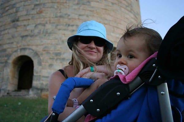 baby's first trip, varadero, varadero tower, varadero with baby, cuba with baby