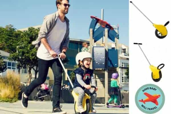 toddler unicycle, toddler balance trike, toddler push trike, toddler stroller alternative, stroller alternative for travel, toddler travel trike