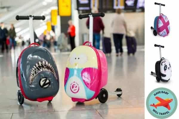 stroller alternative, scooter suitcase, travel scooter suitcase, stroller alternative, ride on suitcase
