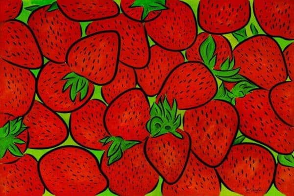 Tea Towel ~ Strawberries 4