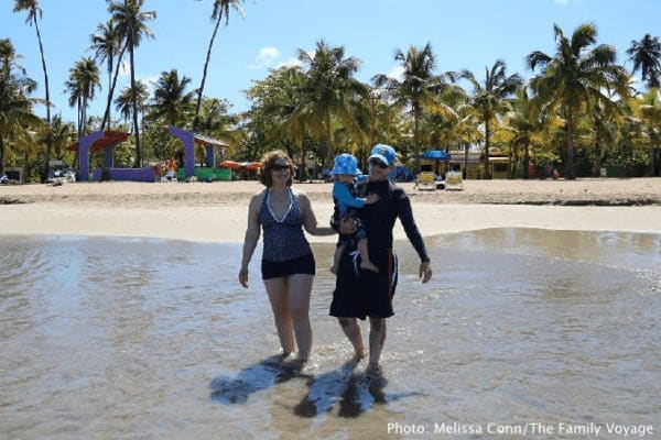 Puerto rico is ideal for a babymoon with a child along