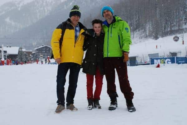 A teen on a ski vacation with her dads.