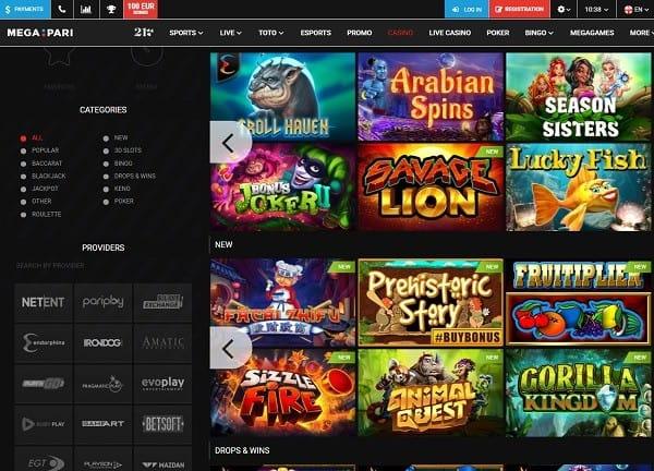 Megapari Online Mobile Casino
