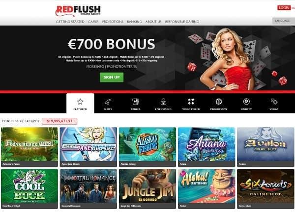 Red Flush Online Casino Bonuses