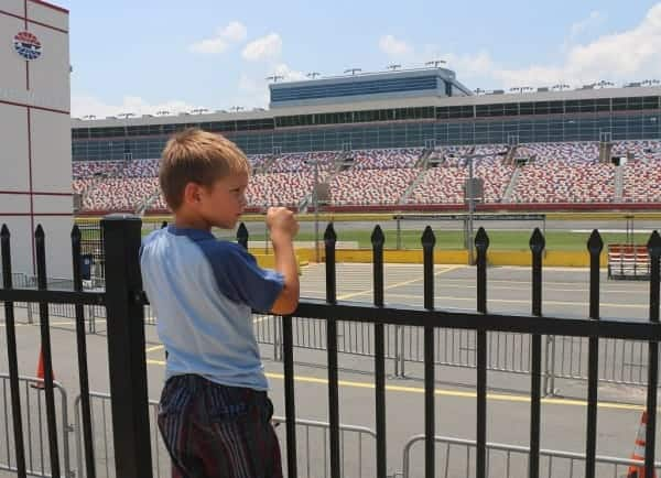 vacations for toddlers, vacations for families with toddlers, charlotte motor speedway tour, charlotte motor speedway with kids