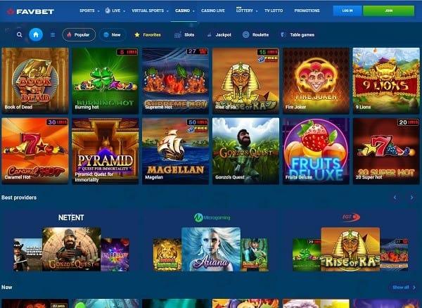 FavBet Casino - register, login and play!