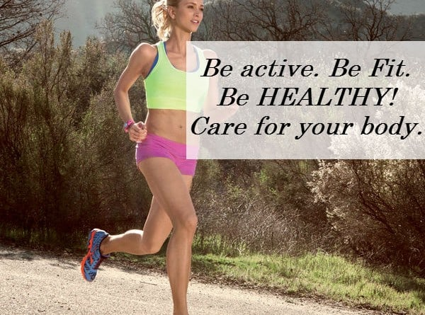 Girl running in nature - be active be fit work out motivation