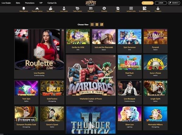 Casino Review & Rating for JackpotVillage.com