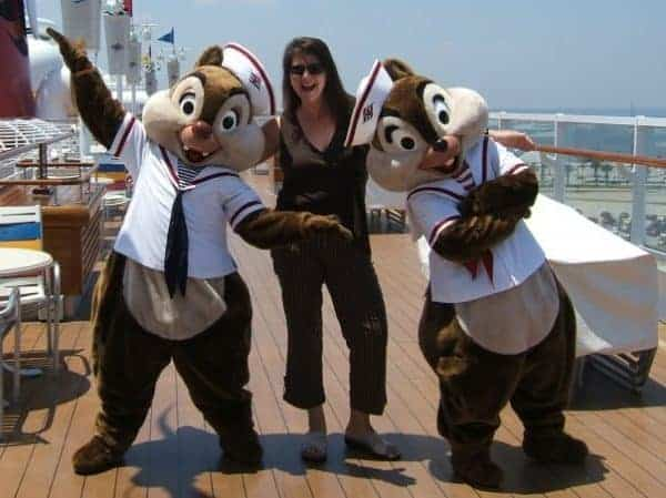 Sandra Halket of Click the Mouse on the Disney Magic cruise ship