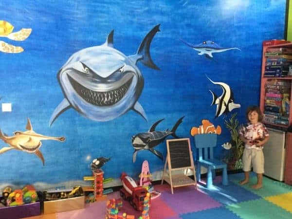 Visiting the kids club during a Maldives family holiday