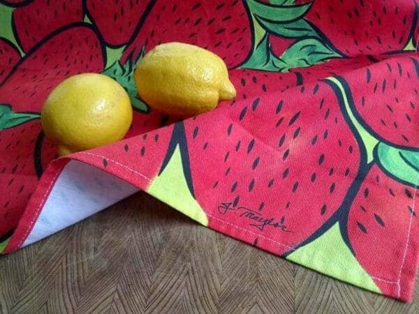 Tea Towel ~ Strawberries 1
