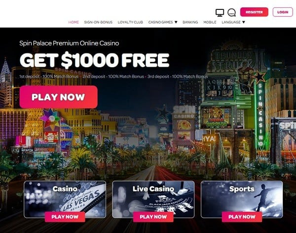 Spin Palace Online Games