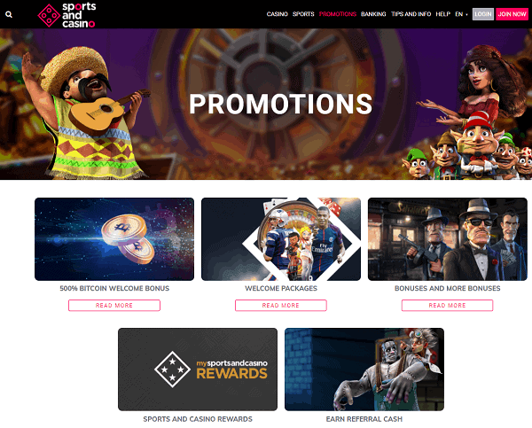 Sports And Casino Website Review