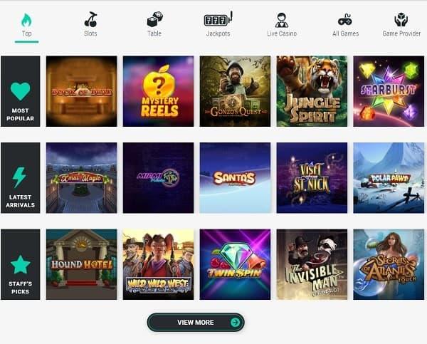 Casino Website Screen / Snapshot