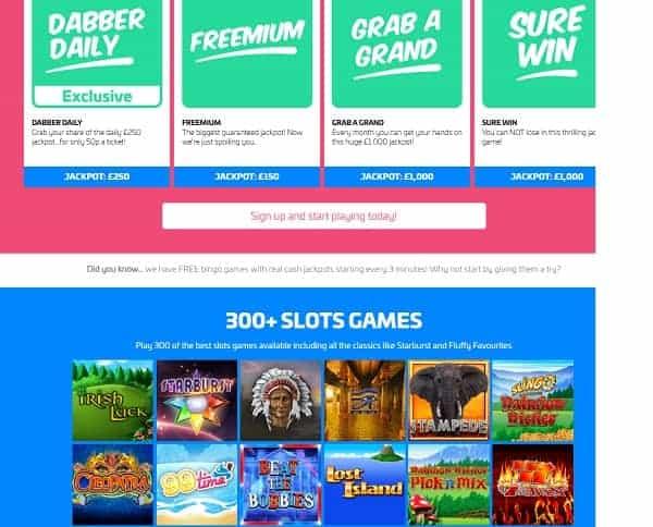 Dabber Bingo Casino Review: 10 free spins and £70 bonus no wagering