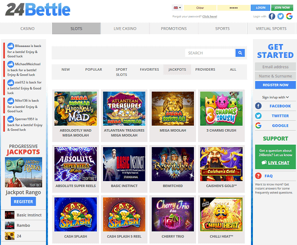 24Bettle Online Casino and Sportsbook