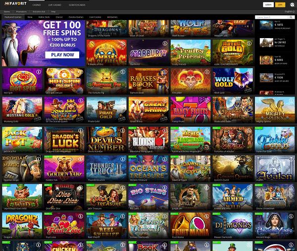 100 free games in welcome bonus!