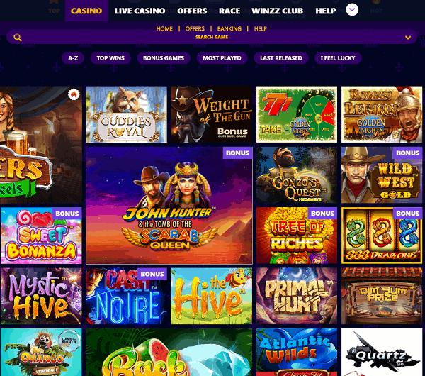 Winzz Casino Review & Bonuses