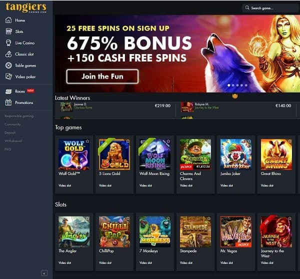 Tangiers Casino Review